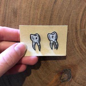 Handmade Tooth Earrings
